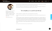 Site para buffet :: Depoimento