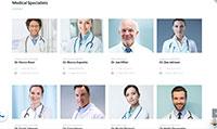 Site para clínica médica :: Página de corpo clínico