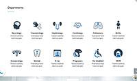 Site para clínica médica :: Página de especialidades