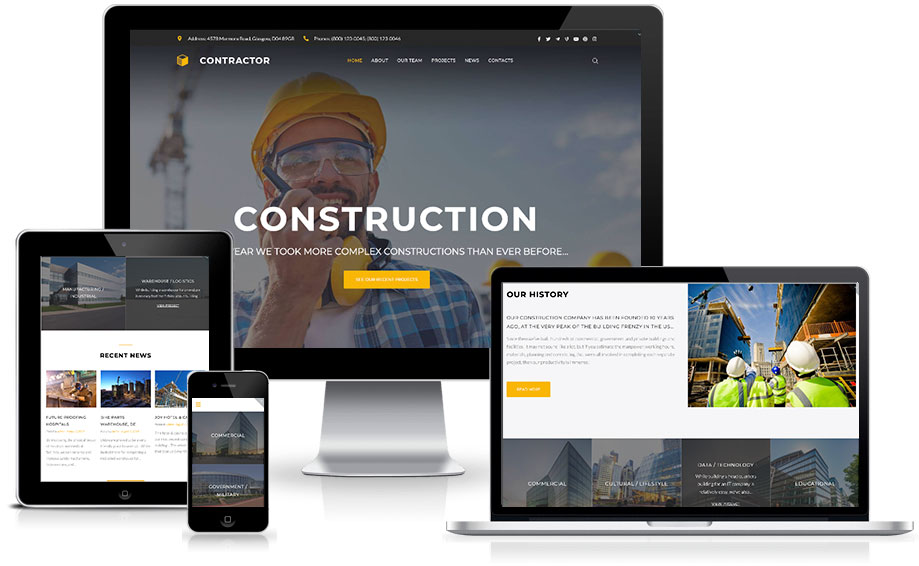 Site para construtora
