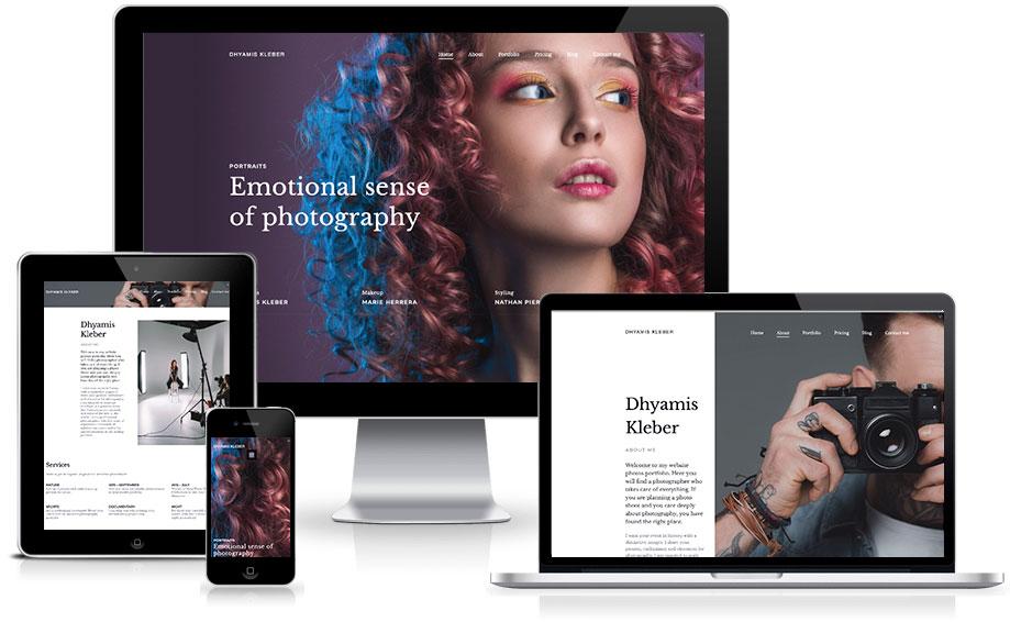 Site para fotografo