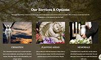 Site para funerária :: Serviços