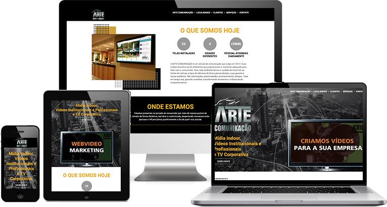 Criação de site :: Arte Comunikação