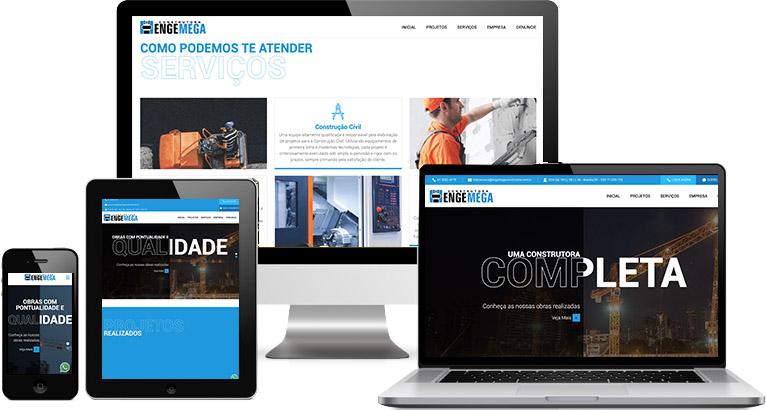 Criação de site :: Construtora Engemega