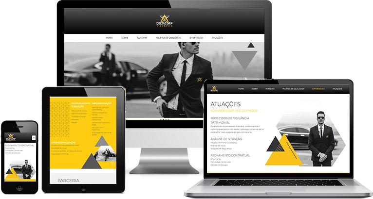 Criação de site :: Delta Corporações