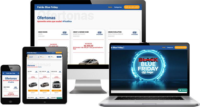 Criação de site :: Feirão Blue Friday
