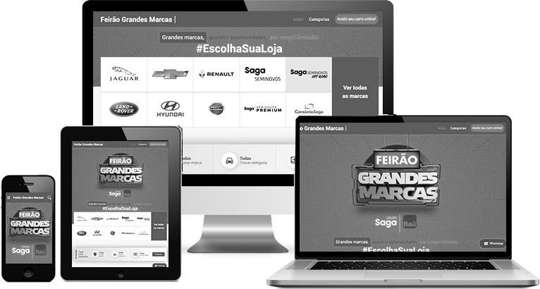 Criação de site :: Grandes Marcas