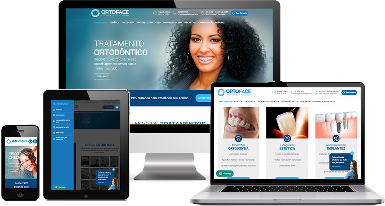 Criação de site :: Ortoface