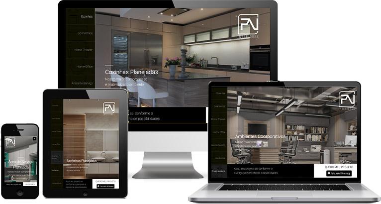 Criação de site :: PV Interiores