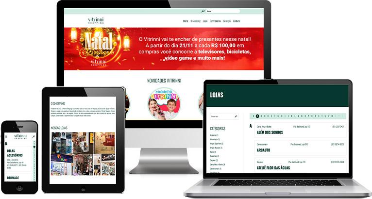 Criação de site :: Vitrinni Shopping