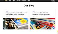 Site para gráfica :: Blog