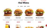 Site para hamburgueria :: Cardápio