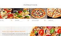 Site para pizzaria :: Cardápio