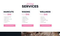 Site para salão :: Serviços